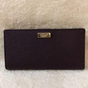 Kate Spade mahogany bifold wallet